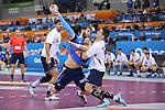 handball wordl cup match between France vs Argentina. luka karabatic . 2015/01/26. Doha. Qatar. Alberto de Isidro.Photocall 3000