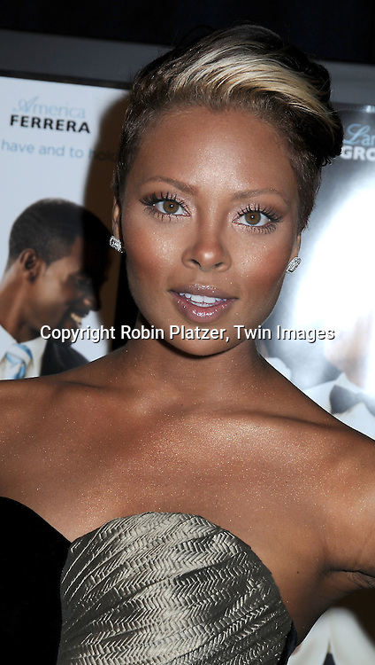 "actress Eva Marcille attending The screeening of ""Our Family Wedding"" on March 9, 2010 at The Loews Lincoln Square Theatre in New York City."
