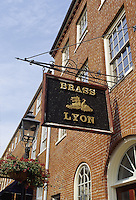 Newburyport, Mass..The Brass Lyon on a quiet side street.