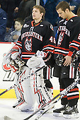 Bryan Mountain (Northeastern - 46), Drew Ellement (Northeastern - 2) - The visiting Northeastern University Huskies defeated the University of Massachusetts-Lowell River Hawks 3-2 with 14 seconds remaining in overtime on Friday, February 11, 2011, at Tsongas Arena in Lowelll, Massachusetts.