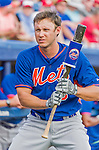 5 March 2015: New York Mets outfielder Matt den Dekker awaits leading off a Spring Training game against the Washington Nationals at Space Coast Stadium in Viera, Florida. The Mets fell to the Nationals after a late inning rally, dropping a 5-4 Grapefruit League game. Mandatory Credit: Ed Wolfstein Photo *** RAW (NEF) Image File Available ***