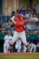 Peoria Chiefs designated hitter Luken Baker (47) at bat during a game against the Bowling Green Hot Rods on September 15, 2018 at Bowling Green Ballpark in Bowling Green, Kentucky.  Bowling Green defeated Peoria 6-1.  (Mike Janes/Four Seam Images)