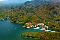 Aerial photography of and around Watauga Lake, Tenn., taken April 2011. Photo shows Lakeshore Marina.