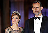 "CROWN PRINCE FELIPE AND CROWN PRINCESS LETIZIA OF SPAIN.attend the gala farewell dinner for Queen Beatrix at the Rijksmuseum in Amsterdam, The Netherlands_April 29, 2013..Crown Prince Willem-Alexander and Crown Princess Maxima will be proclaimed King and Queen  of The Netherlands on the abdication of Queen Beatrix on 30th April 2013..Mandatory Credit Photos: ©NEWSPIX INTERNATIONAL..**ALL FEES PAYABLE TO: ""NEWSPIX INTERNATIONAL""**..PHOTO CREDIT MANDATORY!!: NEWSPIX INTERNATIONAL(Failure to credit will incur a surcharge of 100% of reproduction fees)..IMMEDIATE CONFIRMATION OF USAGE REQUIRED:.Newspix International, 31 Chinnery Hill, Bishop's Stortford, ENGLAND CM23 3PS.Tel:+441279 324672  ; Fax: +441279656877.Mobile:  0777568 1153.e-mail: info@newspixinternational.co.uk"
