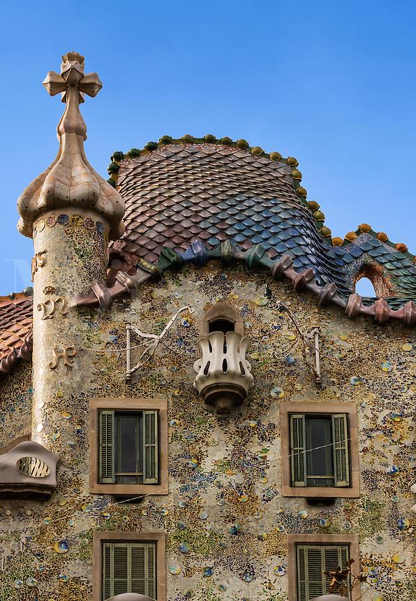 Casa Batlló designed by Antoni Gaudi, Barcelona, Spain
