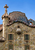Casa Batlló designed by Antoni Gaudi, Barcelona, Spain
