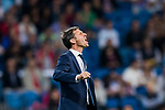 Coach Jose Angel Ziganda of Athletic Club de Bilbao reacts during the La Liga 2017-18 match between Real Madrid and Athletic Club Bilbao at Estadio Santiago Bernabeu on April 18 2018 in Madrid, Spain. Photo by Diego Souto / Power Sport Images