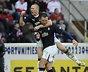31/01/2009  Copyright Pic: James Stewart.File Name : sct_jspa11_falkirk_v_aberdeen.MICHAEL HIGDON IS CONGRATULATED BY DEAN HOLDEN AFTER HE SCORES FALKIRK'S GOAL.James Stewart Photo Agency 19 Carronlea Drive, Falkirk. FK2 8DN      Vat Reg No. 607 6932 25.Studio      : +44 (0)1324 611191 .Mobile      : +44 (0)7721 416997.E-mail  :  jim@jspa.co.uk.If you require further information then contact Jim Stewart on any of the numbers above.........