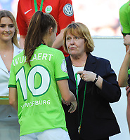 20170527 - KOELN , GERMANY : Wolfsburg's Tessa Wullaert celebrating their victory in the final of German Women's Cup 2017 - Pokal Final Frauen , a soccer women game between SC Sand and holders VfL Wolfsburg  , at the Rhein Energie Stadion , saturday 27 th Mayl 2017 . PHOTO SPORTPIX.BE | DIRK VUYLSTEKE