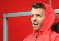 Southampton's Angus Gunn<br /> <br /> Photographer Kevin Barnes/CameraSport<br /> <br /> The Premier League - Southampton v Burnley - Sunday August 12th 2018 - St Mary's Stadium - Southampton<br /> <br /> World Copyright &copy; 2018 CameraSport. All rights reserved. 43 Linden Ave. Countesthorpe. Leicester. England. LE8 5PG - Tel: +44 (0) 116 277 4147 - admin@camerasport.com - www.camerasport.com
