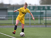 20200329 – BRUGGE, BELGIUM : Standard's Ellen Charlier (13) pictured during a women soccer game between Dames Club Brugge and Standard Femina de Liege on the 17 th matchday of the Belgian Superleague season 2019-2020 , the Belgian women's football  top division , saturday 29 th February 2020 at the Jan Breydelstadium – terrain 4  in Brugge  , Belgium  .  PHOTO SPORTPIX.BE | DAVID CATRY