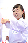 Ayumi Uekusa, <br /> AUGUST 4, 2016 - Karate : <br /> Japan Karatedo Federation holds a press conference after it was decided that <br /> the sport of karate would be added to the Tokyo 2020 Summer Olympic Games on August 3rd, 2016 <br /> in Tokyo, Japan. <br /> (Photo by AFLO SPORT)