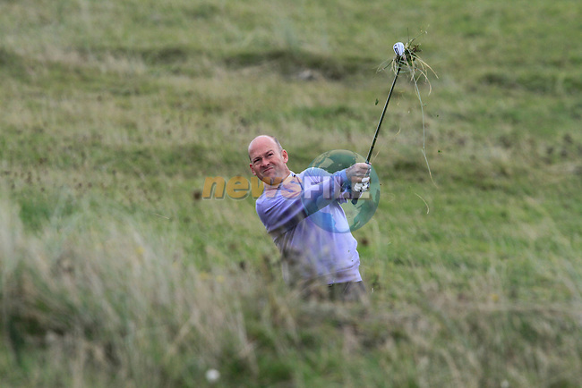 Jimmy Bolger plays out of the rough on the 17th hole during Day 3 of the 100th Irish PGA championship at Seapoint Golf Club, Co Louth...Picture Eoin Clarke/www.golffile.ie.