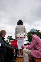 Henley-on-Thames. United Kingdom.  2017 Henley Royal Regatta, Henley Reach, River Thames. <br /> Henley Steward and Umpire.  Miss Guin BATTEN<br /> 10:20:50  Wednesday  28/06/2017<br /> <br /> [Mandatory Credit. Intersport Images].