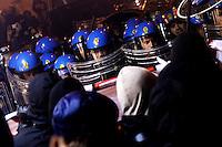 Clashes between protesters and police <br /> Roma 20-11-2013 Manifestazione movimenti NO TAV. <br /> Protest against the Turin-Lyon high speed train line<br /> Foto Andrea Staccioli / Insidefoto