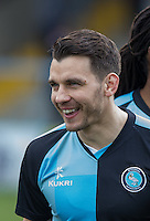 Matt Bloomfield of Wycombe Wanderers  during the Sky Bet League 2 match between Wycombe Wanderers and Bristol Rovers at Adams Park, High Wycombe, England on 27 February 2016. Photo by Andy Rowland.