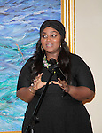 Color of Beauty Awards - Ashunta Sheriff (celebrity Makeup artist) who was honored on February 28, 2015 with red carpet, awards and cocktail reception at Ana Tzarev Gallery, New York City, New York.  (Photo by Sue Coflin/Max Photos)