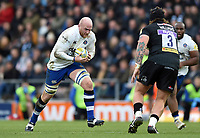 Matt Garvey of Bath Rugby in possession. Aviva Premiership match, between Exeter Chiefs and Bath Rugby on December 2, 2017 at Sandy Park in Exeter, England. Photo by: Patrick Khachfe / Onside Images
