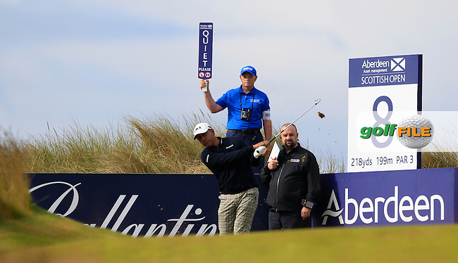 Jeez Milkha Singh (IND) during the first round of the Aberdeen Asset Management Scottish Open 2016, Castle Stuart  Golf links, Inverness, Scotland. 07/07/2016.<br /> Picture Fran Caffrey / Golffile.ie<br /> <br /> All photo usage must carry mandatory copyright credit (&copy; Golffile | Fran Caffrey)