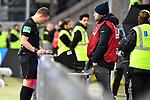 01.12.2018, wirsol Rhein-Neckar-Arena, Sinsheim, GER, 1 FBL, TSG 1899 Hoffenheim vs FC Schalke 04, <br /> <br /> DFL REGULATIONS PROHIBIT ANY USE OF PHOTOGRAPHS AS IMAGE SEQUENCES AND/OR QUASI-VIDEO.<br /> <br /> im Bild: Schiedsrichter Dr. Robert Kampka bemueht den Videobeweis, Monitor<br /> <br /> Foto &copy; nordphoto / Fabisch