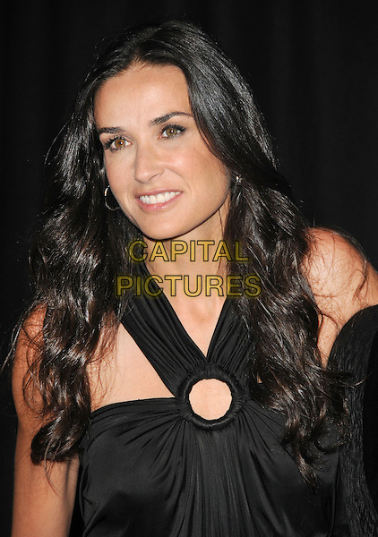 DEMI MOORE .The 2009 Rodeo Walk of Style Awards held at Rodeo Dr. in Beverly Hills, California, USA..October 22nd, 2009.headshot portrait black circle hoop.CAP/RKE/DVS.©DVS/RockinExposures/Capital Pictures.