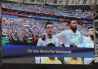 Mesut Oezil (Deutschland Germany) bei der Nationalhymne auf der Videowand - 17.06.2018: Deutschland vs. Mexico, Luschniki Stadium Moskau