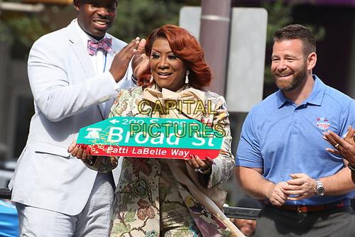 PHILADELPHIA, PA - JULY 2 :Patti LaBelle pictured at Patti LaBelle Way street dedication Center City Philadelphia, Pa July 2, 2019 <br /> CAP/MPI09<br /> ©MPI09/Capital Pictures