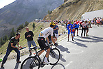 Michal Kwiatkowski (POL) Team Sky climbs Col d'Izoard during Stage 18 of the 104th edition of the Tour de France 2017, running 179.5km from Briancon to the summit of Col d'Izoard, France. 20th July 2017.<br /> Picture: Eoin Clarke | Cyclefile<br /> <br /> All photos usage must carry mandatory copyright credit (&copy; Cyclefile | Eoin Clarke)