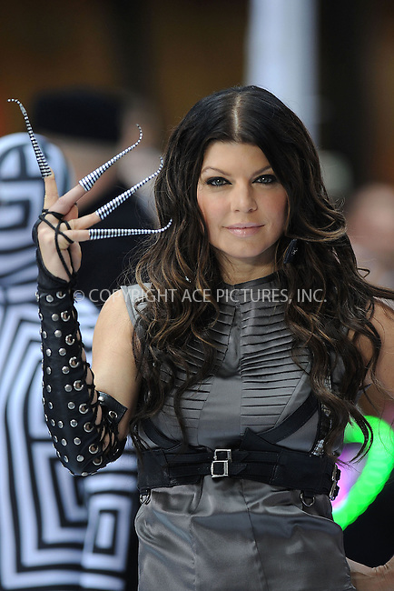 WWW.ACEPIXS.COM . . . . . ....June 12 2009, New York City....Singer Fergie performed with the Black Eyed Peas on NBC's Today Show at the Rockefeller Plaza on June 12 2009 in New York City....Please byline: KRISTIN CALLAHAN - ACEPIXS.COM.. . . . . . ..Ace Pictures, Inc:  ..tel: (212) 243 8787 or (646) 769 0430..e-mail: info@acepixs.com..web: http://www.acepixs.com