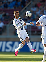 Stanford, California - Saturday June 30, 2012: David Beckham controls the air ball during a game at Stanford Stadium, Stanford, Ca.San Jose Earthquakes defeated Los Angeles Galaxy,  4 to 3
