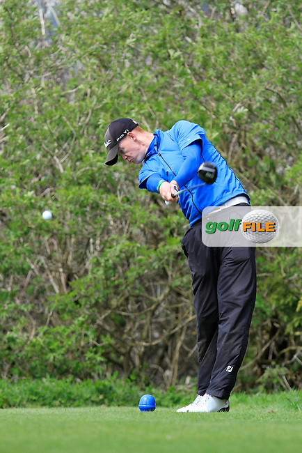 Evan Farrell (Ardee) on the 15th tee during Day 1 of The Munster Youths' Amateur Open Championship in Dungarvan Golf Club on Wednesday 23nd April 2014.<br /> Picture:  Thos Caffrey / www.golffile.ie