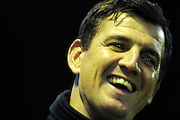 Pictured: Swansea U21 manager Chris Llewellyn. Monday 13th October 2014<br /> Re: Swansea City U21 v Crewe Alexandra U21 at the Landore training facility, south Wales.