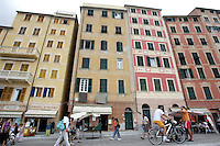 Uno scorcio di Camogli, coi suoi caratteristici alti palazzi.<br /> A view of Camogli, with its typical tall houses.<br /> UPDATE IMAGES PRESS/Riccardo De Luca