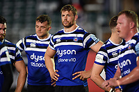 Dave Attwood of Bath Rugby looks dejected after the final whistle. Gallagher Premiership match, between Bath Rugby and Exeter Chiefs on October 5, 2018 at the Recreation Ground in Bath, England. Photo by: Patrick Khachfe / Onside Images