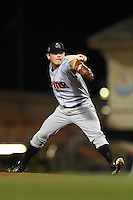 Jupiter Hammerheads pitcher CJ Robinson (25) delivers a pitch during a game against the Bradenton Marauders on April 17, 2015 at McKechnie Field in Bradenton, Florida.  Bradenton defeated Jupiter 11-6.  (Mike Janes/Four Seam Images)