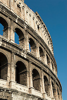 The Flavian Amphitheater in Rome, commonly called the Colosseum, has three tiers containing 240 arches. The amphitheater was ringed by eighty numbered entrances 76 of which were used by ordinary spectators. The northern entrance was reserved for the Roman Emperor and his aides.