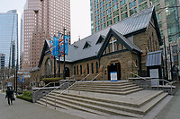 Newly renovated Christ Church Cathedral in downtown Vancouver, British Columbia, Canada