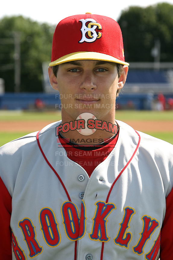 August 6, 2009:  Second Baseman Jake Eigsti of the Brooklyn Cyclones during a game at Dwyer Stadium in Batavia, NY.  The Cyclones are the Short-Season Class-A affiliate of the New York Mets.  Photo By Mike Janes/Four Seam Images