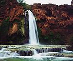 USA; Arizona; Havasupai Indian reservation. Havisu Falls in the Grand Canyon
