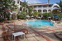 Zanzibar, Tanzania.  Serena Inn Pool Area, Stone Town.