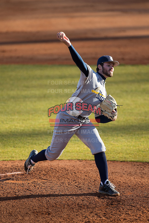 Rice Owls starting pitcher Kevin McCanna (23) in action against the Charlotte 49ers at Hayes Stadium on March 6, 2015 in Charlotte, North Carolina.  The Owls defeated the 49ers 4-2.  (Brian Westerholt/Four Seam Images)