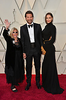 LOS ANGELES, CA. February 24, 2019: Gloria Campano, Bradley Cooper &amp; Irina Shayk at the 91st Academy Awards at the Dolby Theatre.<br /> Picture: Paul Smith/Featureflash