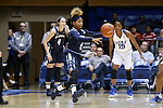 22 November 2016: Old Dominion's MaKayla Timmons (2). The Duke University Blue Devils hosted the Old Dominion University Monarchs at Cameron Indoor Stadium in Durham, North Carolina in a 2016-17 NCAA Division I Women's Basketball game. Duke won the game 92-64.