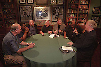 From left, Max McGee, Dave Robinson, Ron Kramer, Dick Schaap, Jerry Kramer, Willie Davis and Paul Hornung gather at Lombardi's Steakhouse prior to the mixer portion of the Lombardi players reunion in Appleton, Wisconsin in September of 2001. McGee passed away in 2007, Ron Kramer died in 2010 and Schaap died three months after this reunion.