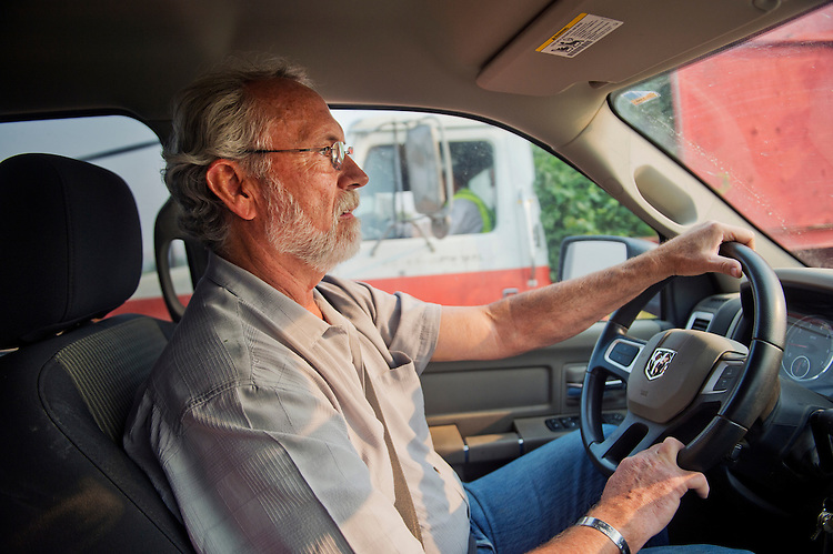 UNITED STATES - AUGUST 27: Rep. Dan Newhouse, R-Wash., drives around on his farm that grows hops, grapes and fruit trees, outside of Sunnyside, Wash., August 27, 2015. About 79 percent of the country's hops come from Washington state. (Photo By Tom Williams/CQ Roll Call)