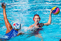 AIELLO Rosaria ITA, CHRISTMAS Kyra CAN<br /> ITA (white cap) -  CAN (blue cap)<br /> Water Polo<br /> Day03  16/07/2017 <br /> XVII FINA World Championships Aquatics<br /> Alfred Hajos Complex Margaret Island  <br /> Budapest Hungary July 15th - 30th 2017 <br /> Photo @ Deepbluemedia/Insidefoto