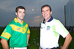 Joe walsh Manager and Chairman of Kilmoyley Hurling Club given some tips to Sean Murnane on Thursday evening on Media night at Kilmoyley.