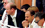Pix: Shaun Flannery/shaunflanneryphotography.com...COPYRIGHT PICTURE>>SHAUN FLANNERY>01302-570814>>07778315553>>..28th August 1998..............Doncaster Town v Bath..Abbot Ale Cup final at Lords..A tense moment for Doncaster Town manager Ian Dickinson during the 1998 Abbot Cup final at Lords.