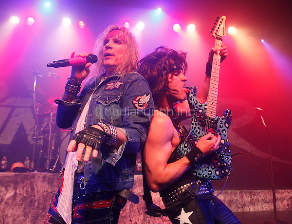 PHILADELPHIA, PENNSYLVANIA - DECEMBER 30, 2014: Steel Panther perform at the Theatre of Living Arts in Philadelphia, Pennsylvania, on December 30, 2014. © Brian Hineline/Retna Ltd. /MediaPunch