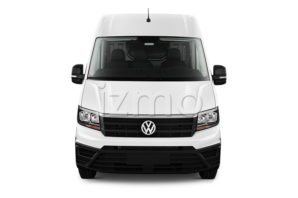 Car photography straight front view of a 2019 Volkswagen Crafter Base 4 Door Cargo Van